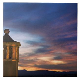 Mexico, San Miguel de Allende. Sunset over Tile