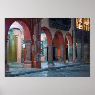 Mexico, San Miguel de Allende, The Jardin, Poster