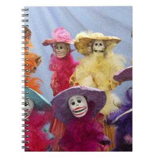 Mexico. Skeletal Catrinas, figures celebrating Notebook