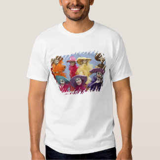 Mexico. Skeletal Catrinas, figures celebrating T-shirts