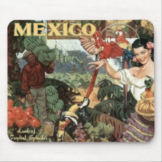 Mexico small vintage image mousepad