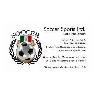 Mexico Soccer 2016 Fan Gear Pack Of Standard Business Cards