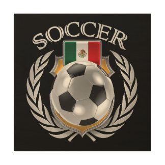 Mexico Soccer 2016 Fan Gear Wood Print