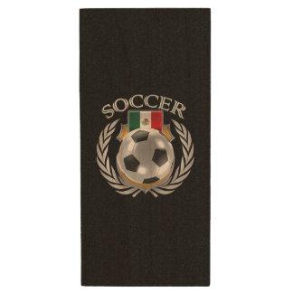 Mexico Soccer 2016 Fan Gear Wood USB Flash Drive