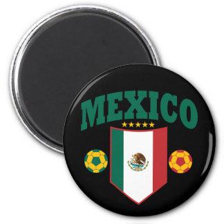 Mexico Soccer 6 Cm Round Magnet