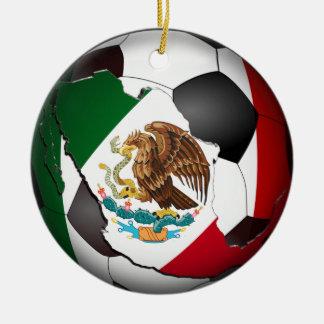 Mexico Soccer Ball Round Ceramic Decoration
