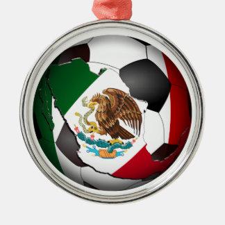 Mexico Soccer Ball Christmas Tree Ornament