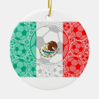 Mexico soccer balls christmas ornament