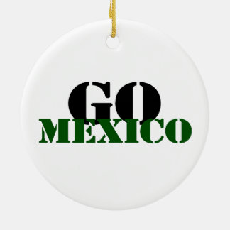 Mexico Soccer Christmas Ornament