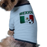 mexico soccer football world cup 2010 pet t-shirt