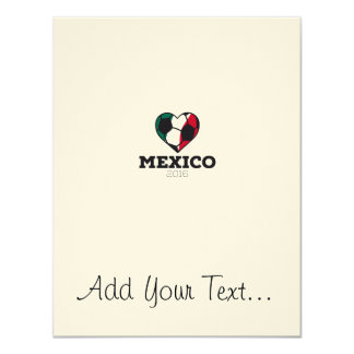 Mexico Soccer Shirt 2016 11 Cm X 14 Cm Invitation Card