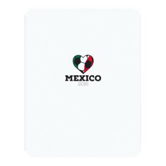 Mexico Soccer Shirt 2016 11 Cm X 14 Cm Invitation Card