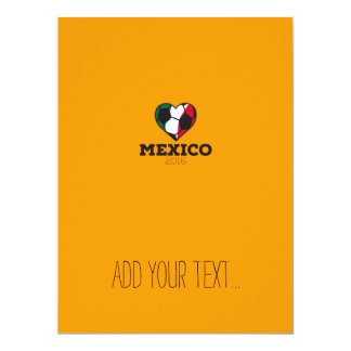 Mexico Soccer Shirt 2016 17 Cm X 22 Cm Invitation Card