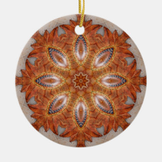 Mexico Sol Kaleidoscope Medallion Christmas Ornament