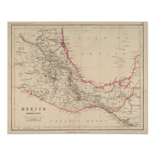 Mexico Southern States Poster