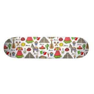 Mexico | Symbols Pattern 21.3 Cm Mini Skateboard Deck