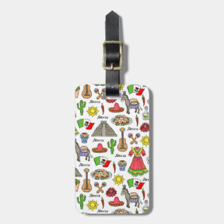 Mexico | Symbols Pattern Luggage Tag