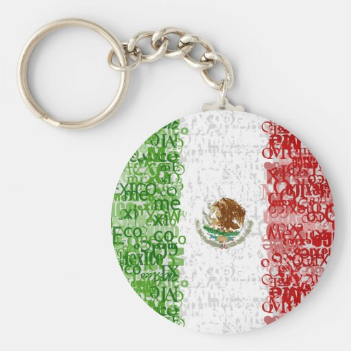 Mexico Textual Keychain