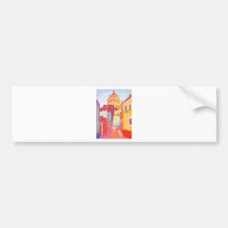 Mexico Travel Poster Bumper Sticker