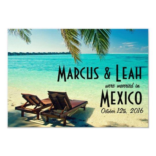 Mexico Tropical Beach Wedding Announce/Invite Card