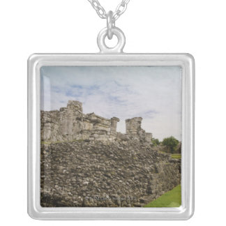 Mexico, Tulum, ancient ruins 2 Silver Plated Necklace