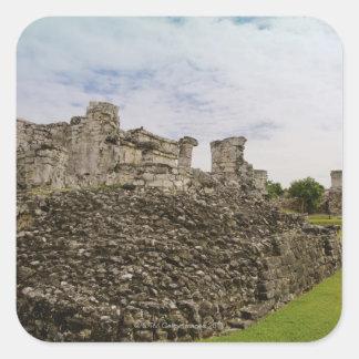Mexico, Tulum, ancient ruins 2 Square Sticker