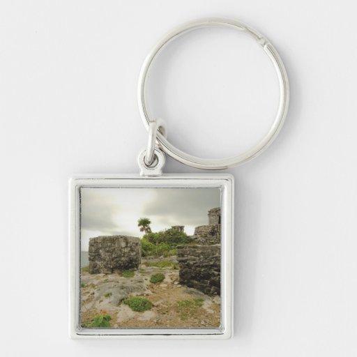 Mexico, Tulum, ancient ruins Key Chain