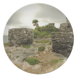 Mexico, Tulum, ancient ruins Plate