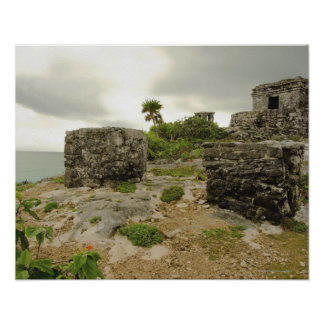 Mexico, Tulum, ancient ruins Poster