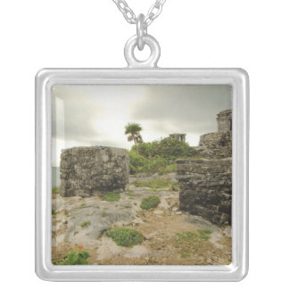 Mexico, Tulum, ancient ruins Silver Plated Necklace