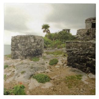 Mexico, Tulum, ancient ruins Tile