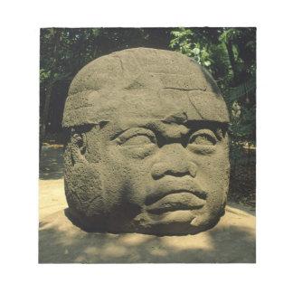 Mexico, Villahermosa, giant Olmec head, La Venta Notepad