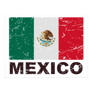 Mexico Vintage Flag Postcard