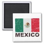 Mexico Vintage Flag Square Magnet