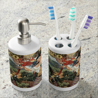 Mexico vintage travel bathroom set