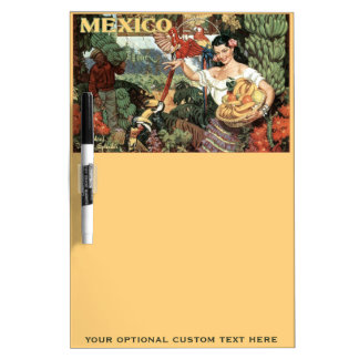 Mexico vintage travel message board dry erase whiteboards