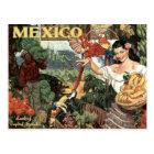 Mexico vintage travel postcard