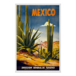 """""""Mexico"""" Vintage Travel Poster"""