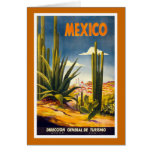 """""""Mexico"""" Vintage Travel Poster Greeting Card"""