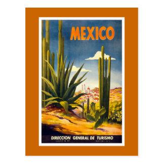 """Mexico"" Vintage Travel Poster Postcard"