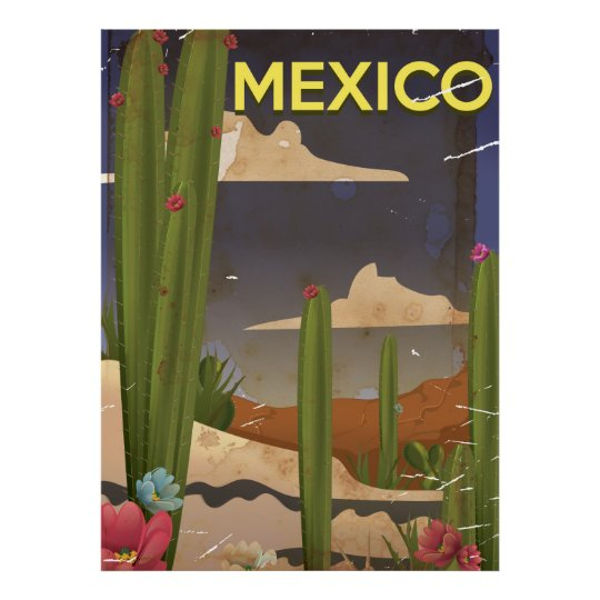Mexico Vintage travel poster. Poster