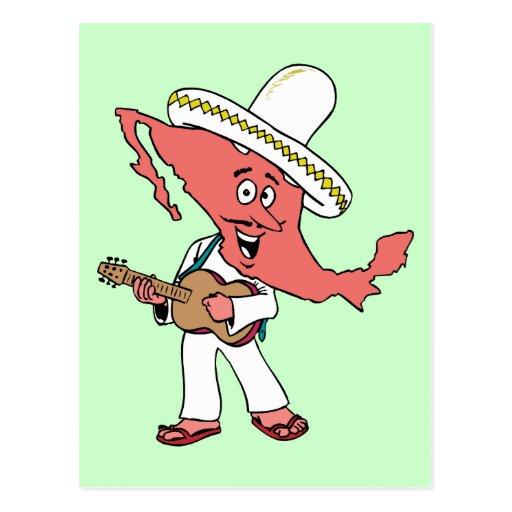 Mexico Vintage Travel Souvenir Caricature Art Postcard