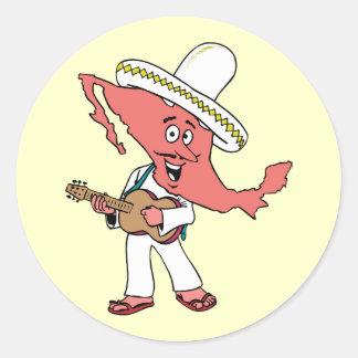 Mexico Vintage Travel Souvenir Caricature Art Stickers