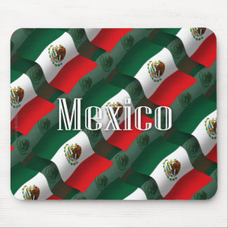 Mexico Waving Flag Mouse Pad