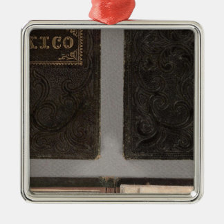 Mexico, Yucatan, and Southern California Silver-Colored Square Decoration