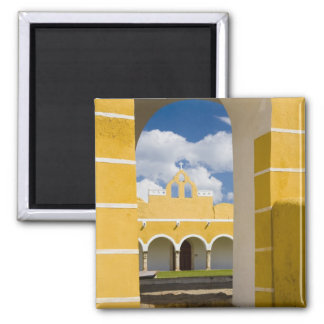 Mexico, Yucatan, Izamal. The Franciscan Convent 2 Square Magnet