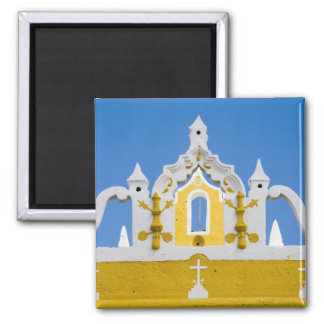 Mexico, Yucatan, Izamal. The Franciscan Convent 3 Square Magnet