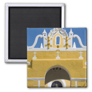 Mexico, Yucatan, Izamal. The Franciscan Convent Square Magnet