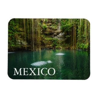 Mexico, Yucatan, Scenic Lake Rectangular Photo Magnet