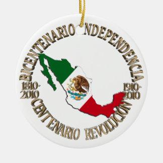 Mexico's Bicentennial & Centennial Celebration Round Ceramic Decoration